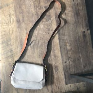 Fossil Gray Leather Crossbody